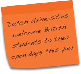 Dutch Universities welcome British students to their open days this year.